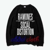Jual Sweater Ramones Social Distortion - Hitam