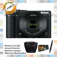 Nikon 1 J5 Mirrorless Digital Camera - Kit 10-30mm - Kamera - Hitam