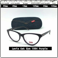 Hd Frame Kacamata frame minus kacamata Levis 1094 Cat Eye Purple Id