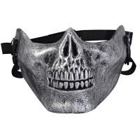 Topeng tengkorak half mask skull army URBEX airsoft