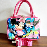 GRATIS ONGKIR Tas Travel Bag Koper Anak Kanvas Ukuran Kecil Minnie M