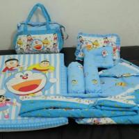 Jual Matras set selimut topi Doraemon/perlengkapan bayi Murah