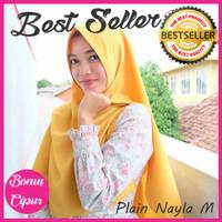 Kerudung Hijab Jilbab Simple Syari Khimar Plain Nayla Shawl Size M