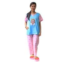 Setelan Baju Tidur Wanita Bear Celana Panjang 453