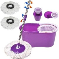 Super Mop Jumbo Stick dengan 2 kepala pel / paket magic easy spin 360