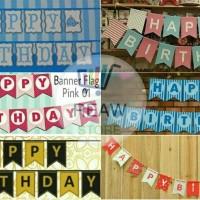Banner Happy Birthday / Banner Ulang Tahun Aneka Warna
