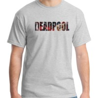 Jual Logo - Kaos Superhero / Deadpool / Marvel / Baju Distro Ordinal Murah