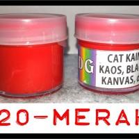 Cat Lukis / Kanvas / Tekstil - warna Merah - utk lukis kaos/tas/sepatu