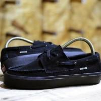 promo Sepatu vans zapato full black DT pria wanita kuliah sekolah han