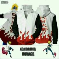 Jaket Anime Yondaime Hokage Minato Hoodie High Quality Terbatas