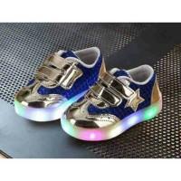 Sepatu Anak Sneakers Adidas Bintang Lampu Led Star Blink Led Shoes