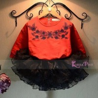 Jual SETELAN MERAH TUTU Baju Pesta Princess Import Sale Bran Best Seller Murah