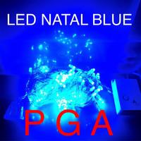 Jual LAMPU NATAL LED / LAMPU HIAS LED / LAMPU DEKORASI LED BIRU / 100 LED Murah