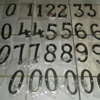 nomor rumah / nomor pagar warna chrome dan gold uk. 4 inchi