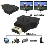 Universal HDMI Splitter 1 Input - 2 Output Adapter