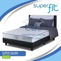 Comforta Kasur Spring Bed Super Fit Silver - Full Set 160x200