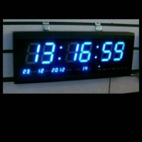 Jam DIGITAL JH 4819 Biru Untuk Masjid Sekolah Gedung Pabrik