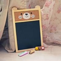 papan tulis hitam gantung blackboard set kapur penghapus pin