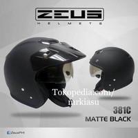 harga Zeus 381 Matt Black Doff Helm Retro Import Hitam Doff Dop Tokopedia.com