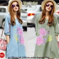 54681 Diva Pocket/baju Muslim Wanita Murah/atasan Muslim Murah