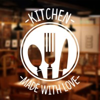 Stiker Kitchen Made Dinding Kaca Pintu Dapur Resto Cafe Kantin Sticker