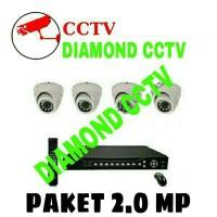 Promo Paket Cctv 4 Ch Analog ( P2P Cloud online internet Lihat Di HP A