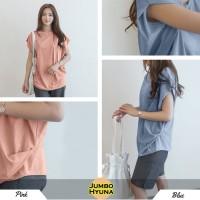 Jumbo Hyuna Blouse Bigsize Baju Atasan Wanita Jumbo Spandex Rayon
