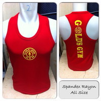 Singlet Spandex Gold Gym goldgym210