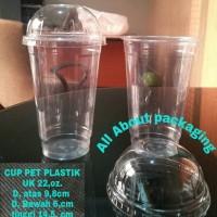 Jual CUP PLASTIK PET UK 22,OZ / GELAS PLASTIK PET Murah