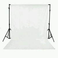 Backdrop Background Foto Putih Polos 200 x 300 Cm White Screen Tebal