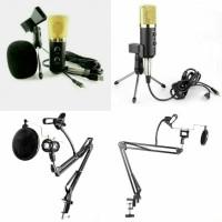 MK-F100TL + stand + pop'filter + Holder hp dan mic