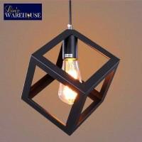 lampu gantung cafe ruang makan industrial square pendant light