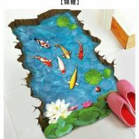 3D Wallpaper Sticker Dinding 90 x 60cm - WPP003 - Ikan Koi