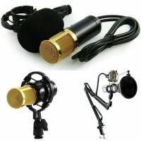 BM 800 + stand arm + pop filter + shock proof mount hp