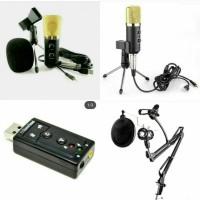 MK-F100TL + stand + pop'filter + Holder hp dan mic + soundcard