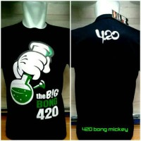 kaos oblong 420 the big bong Mickey mouse disney