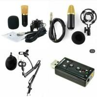 BM-700 + stand + pop filter + holder hp + soundcard