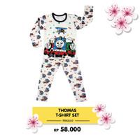 Set Piyama Lengan Panjang Baju Tidur Anak Motif Thomas