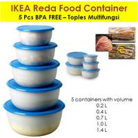 Jual AQ1394 Food Container 5in1 Ikea Reda Tempat Mak KODE X1394 Murah