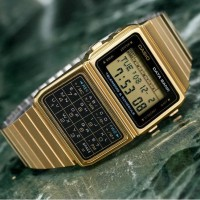 Jam Tangan Casio. Casio Calculator Kalkulator Digital Gold DBC-610GA-