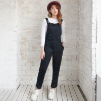 [N overall pocket black RO] jumpsuit wanita babyterry hitam