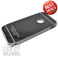 Aluminium Bumper with Mirror Back Cover for iPhone 5c - Black`1YDMF4-