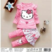 Setelan Celana Rok Hello Love Kitty Polka Kid