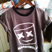 marshmelow tee t shirt vintage art design ready kaos coconut island