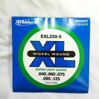 harga Senar Bass Elektrik 5string 040 D'addario Exl 220-5 Original Usa Tokopedia.com