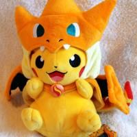 Jual Boneka Pikachu Charizard Boneka Pokemon Topi Bisa dibuka Boneka Impor Murah