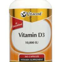 Vitamin D3 10000 IU 365 softgels Utk SATU TAHUN - Vitacost Vitamin D
