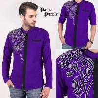 SALE IMPORT Pasha Purple AK baju koko pria rayon bangkok ungu