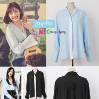 Joy red velvet blue shirt