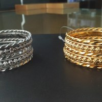 Gelang Keroncong Fashion India Silver / Gold